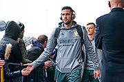 Leeds United goalkeeper Kiko Casilla (13) arrives at the ground during the EFL Sky Bet Championship match between Leeds United and Queens Park Rangers at Elland Road, Leeds, England on 2 November 2019.