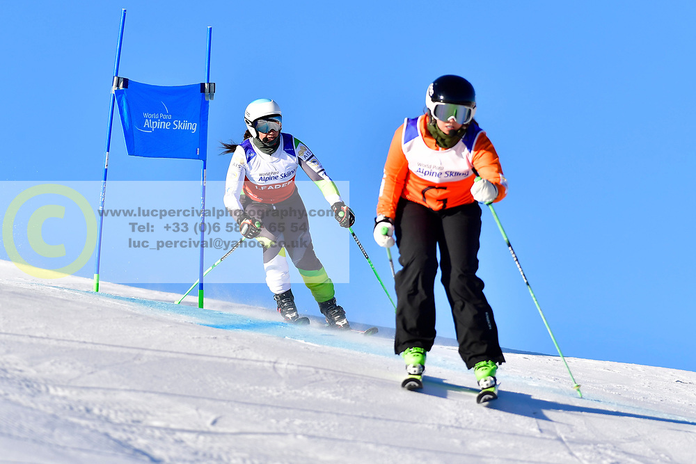 PERRINE Melissa Guide: KELLY Bobbi, B2, AUS, Giant Slalom at the WPAS_2019 Alpine Skiing World Cup, La Molina, Spain