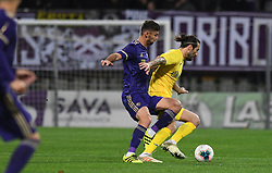 Nikola Vuyadinovich of Domzale and Rok Kronaveter of Maribor during football match between NK Maribor and NK Domzale in 17th Round of Prva liga Telekom Slovenije 2019/20, on November 9, 2019 in Ljudski vrt, Maribor, Slovenia. Photo by Milos Vujinovic / Sportida
