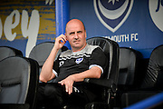 Portsmouth Manager Paul Cook during the Sky Bet League 2 play-off first leg match between Portsmouth and Plymouth Argyle at Fratton Park, Portsmouth, England on 12 May 2016. Photo by Adam Rivers.
