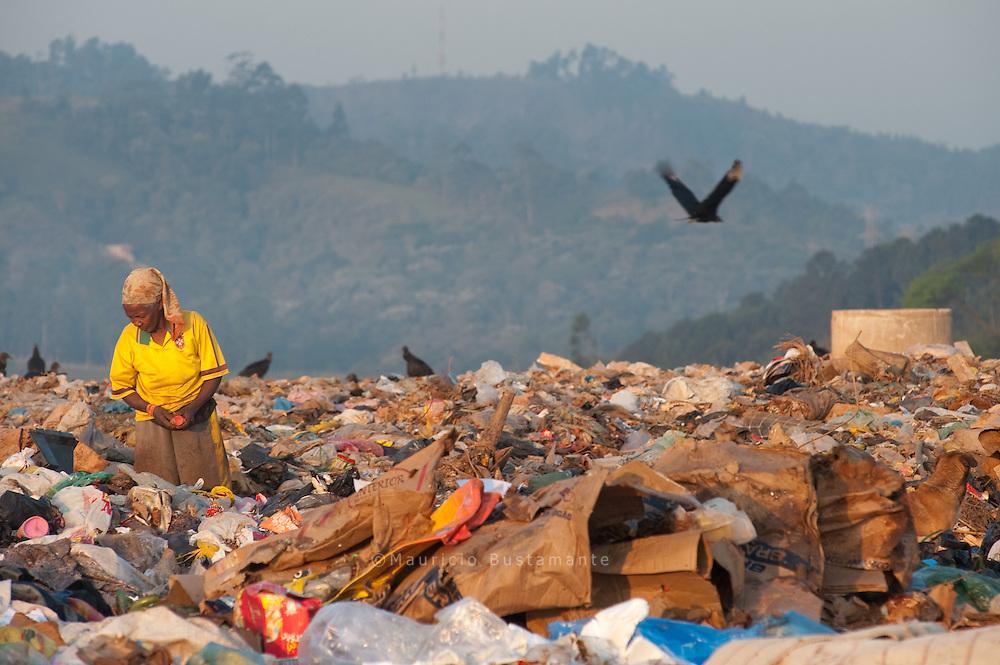Cooperativa tira catadores de lixo das ruas para ensinar a reciclagem.