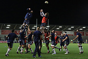 Full squad warm up before the Aviva Premiership match between Sale Sharks and Gloucester Rugby at the AJ Bell Stadium, Eccles, United Kingdom on 29 September 2017. Photo by George Franks.