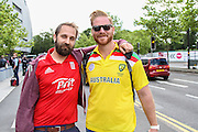 England fan and Australia fan before the 3rd Investec Ashes Test match between England and Australia at Edgbaston, Birmingham, United Kingdom on 29 July 2015. Photo by Shane Healey.