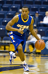 December 28, 2009; Berkeley, CA, USA;  UC Santa Barbara Gauchos guard Justin Joyner (11) during the second half against the Furman Paladins at the Haas Pavilion.  UC Santa Barbara defeated Furman 72-60.