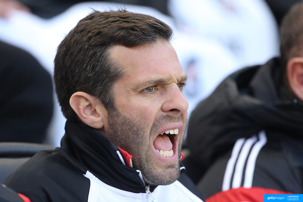 Ben Olsen, Head Coach of DC United during the New York Red Bulls V DC United, MLS Cup Playoffs, Eastern Conference Semifinals first leg at Red Bull Arena, Harrison, New Jersey. USA. 2nd November 2014. Photo Tim Clayton