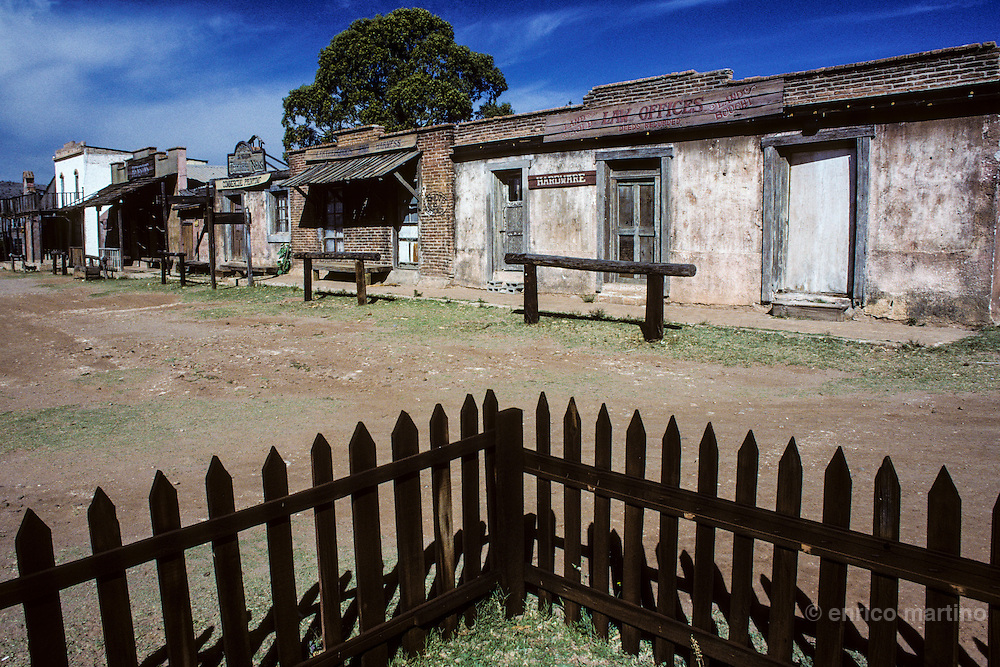 """Durango, """"Calle Howard"""", western movie town utilised by Hollywood. Durango's locations have been utilised for more than 120 movies."""