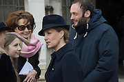 FIONA LADY MONTAGU; THE COUNTESS OF WESSEX; Jonathan Montagu, Service of Thanksgiving for the life of Edward Baron Montagu of Beaulieu. St. Margaret's Westminster. London. 20 January 2016