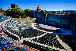 The spectacular 3,000 seat amphitheatre in the medieval Cité de Carcassonne<br /> <br /> (c) Andrew Wilson | Edinburgh Elite media