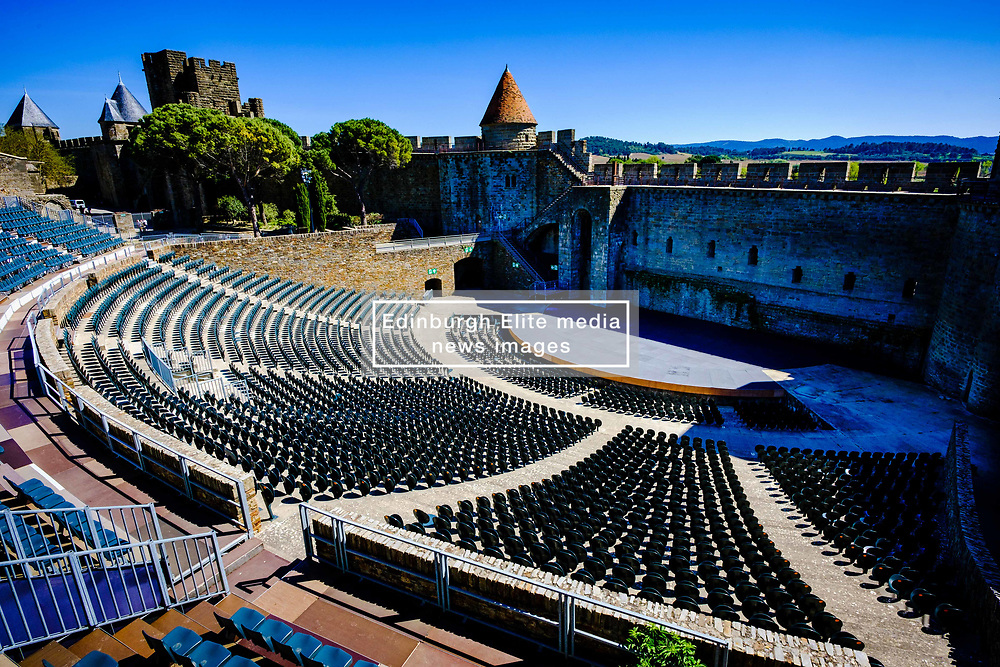 The spectacular 3,000 seat amphitheatre in the medieval Cité de Carcassonne<br /> <br /> (c) Andrew Wilson | Edinburgh Elite media