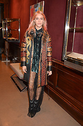 LADY MARY CHARTERIS at the opening of the exhibition 'My Mother Was A Reeler' at Etro, 43 Old Bond Street, London on 5th October 2016.