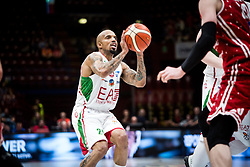 April 29, 2018 - Milan, Milan, Italy - Jordan Theodore (#25 EA7 Emporio Armani Milano) shoots a layupduring a basketball game of Poste Mobile Lega Basket A between  EA7 Emporio Armani Milano vs VL Pesaro at Mediolanum Forum, in Milan, Italy, on April 29, 2018. (Credit Image: © Roberto Finizio/NurPhoto via ZUMA Press)