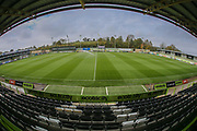 The New Lawn, home of Forest Green Rovers during the EFL Sky Bet League 2 match between Forest Green Rovers and Cheltenham Town at the New Lawn, Forest Green, United Kingdom on 20 October 2018.