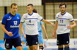 06-10-2012 VOLLEYBAL: SLIEDRECHT SPORT - ABIANT LYCURGUS 2: SLIEDRECHT<br /> Abiant Lycurgus 2 heeft in de Topdivisie Sliedrecht Sport met 1-3 verslagen. De setstanden waren 28-26, 19-25, 21-25 en 20-25 / (L-R) Frank Vlot, Michael van Leeuwe, Lucas Vermeulen<br /> ©2012-FotoHoogendoorn.nl