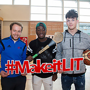 20.10.17.            <br /> Enjoying the LIT (Limerick School of Technology) open day were, Paul Browne, LIT, Evans Boevi and Kristers Morozs, CBS Sexton Street. Picture: Alan Place