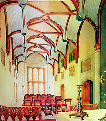 File photo dated 24/01/95 of an artist's impression of the restored Private Chapel at Windsor Castle, where Archie Mountbatten-Windsor will be christened, which had to be entirely rebuilt following the devastating Windsor Castle fire.