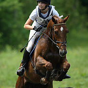 Kendal Lehari (CAN) and Crescent Street at the Killusty Horse Trials in Bobcaygeon, Ontario.