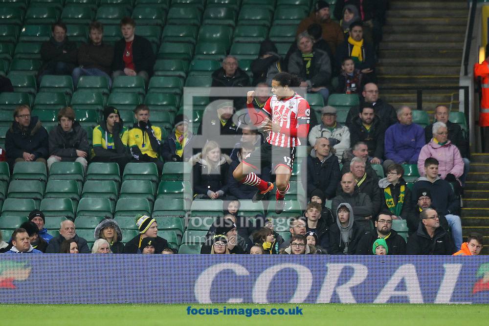 Virgil van Dijk of Southampton celebrates scoring his sides 1st goal during the third round of the FA Cup at Carrow Road, Norwich<br /> Picture by Paul Chesterton/Focus Images Ltd +44 7904 640267<br /> 07/01/2017