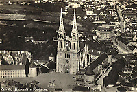 Zagreb : Katedrala s Kaptolom. <br /> <br /> ImpresumS. l. : S. n., [193-].<br /> Materijalni opis1 razglednica : tisak ; 9 x 14 cm.<br /> Vrstavizualna građa • razglednice<br /> ZbirkaGrafička zbirka NSK • Zbirka razglednica<br /> Formatimage/jpeg<br /> PredmetZagreb –– Kaptol<br /> Katedrala Uznesenja Marijina (Zagreb)<br /> SignaturaRZG-KAP-39<br /> Obuhvat(vremenski)20. stoljeće<br /> NapomenaRazglednica je putovala.<br /> PravaJavno dobro<br /> Identifikatori000955373<br /> NBN.HRNBN: urn:nbn:hr:238:939181 <br /> <br /> Izvor: Digitalne zbirke Nacionalne i sveučilišne knjižnice u Zagrebu