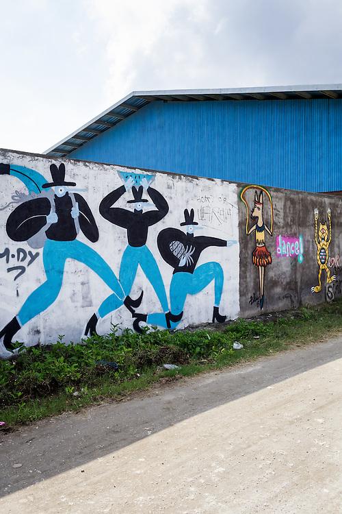 Murals in Canggu.