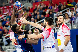 Dika Mem of France during handball match between National teams of France and Spain in Half Final match of Men's EHF EURO 2018, on January 26, 2018 in Arena Zagreb, Zagreb, Croatia. Photo by Ziga Zupan / Sportida
