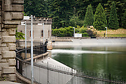 Dosing House and Gatehouse 5 at Reservoir 5, one of three open reservoirs at Mount Tabor Park and of five total in Portland.  The 3 open reservoirs in Mount Tabor Park, with their ancillary structures, were placed in the National Register of Historic Places on January 15, 2004.  Environmental Protection Agency (EPA) regulation: Long Term 2 Enhanced Surface Water Treatment Rule, referred to as the LT2 rule imposes new requirements that open water reservoirs be covered, buried or additionally treated.  This applies to Portland's five open reservoirs and to the unfiltered Bull Run source supplying them. Mount Tabor Park,Portland, Oregon, USA.