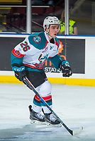 KELOWNA, CANADA - MARCH 7: Liam Kindree #26 of the Kelowna Rockets skates against the Vancouver Giants  on March 7, 2018 at Prospera Place in Kelowna, British Columbia, Canada.  (Photo by Marissa Baecker/Shoot the Breeze)  *** Local Caption ***