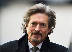 © London News Pictures. 13/02/2014. London, UK. Actor Nigel Havers leaving the church.  The funeral of actor Roger Lloyd-Pack at St Pauls Church also known as 'The Actor's Church'  in Covent Garden, London. Roger Lloyd-Pack was famous for playing roles such as Trigger in Only Fools and Horses and Owen Newitt in the The Vicar of Dibley. Photo credit : Ben Cawthra/LNP