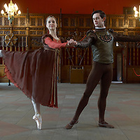 Edinburgh 18th April 07 Scottish Ballet's Spring 07 tour coming to the city's Festival Theatre this week. Dancers Mark Kimmett and Luisa Rocco will be dressed in Elizabethan costumes from Peter Darrell's re-imagining of Shakespeare's Othello..