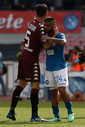 May 6, 2018 - Naples, Italy - Lorenzo Insigne of SSC Napoli greets Mirko Valdifiori of Torino FC after the serie A match between SSC Napoli and Torino FC at Stadio San Paolo on May 6, 2018 in Naples, Italy. (Credit Image: © Paolo Manzo/NurPhoto via ZUMA Press)