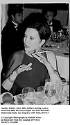 Audrey Wilder ( Mrs. Billy Wilder) during a party hosted by Billy McCarty-Cooper for Jean Howard's Hollywood book. Los Angeles. 1989. Film.89319/7<br />