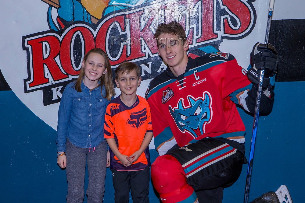 KELOWNA, CANADA - NOVEMBER 25:  Winners with Cal Foote #25 of the Kelowna Rockets at the Kelowna Rockets game on November 25, 2017 at Prospera Place in Kelowna, British Columbia, Canada.  (Photo By Cindy Rogers/Nyasa Photography,  *** Local Caption ***