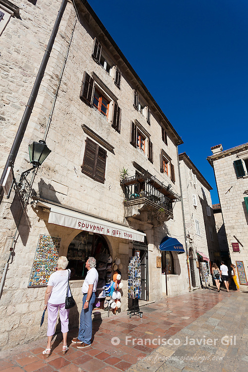 Street of Kotor, UNESCO World Heritage Site, Kotor, Montenegro