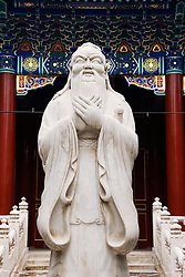 Statue of Confucius at Confician Shrine in beijing