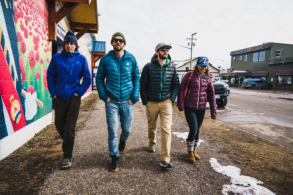 Strutting with Erme Catino, Simon Thomson, Joe Morabito, and Emily Bodner, Smithers, British Columbia.