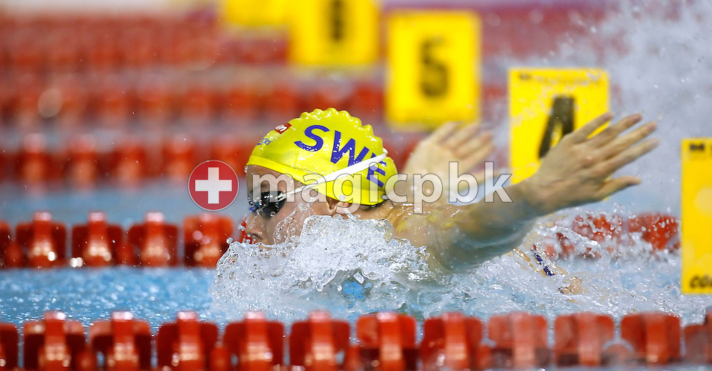 Anna-Karin KAMMERLING of Sweden competes in the women's 100m butterfly heats on day three at the European Short-Course Swimming Championships at the Maekelaenrinne Swimming Centre in Helsinki, Finland, Saturday December 9, 2006. (Photo by Patrick B. Kraemer / MAGICPBK)