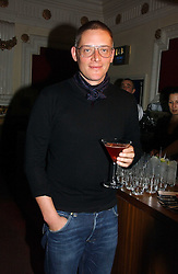 Designer GILES DEACON at the Grand Classics screening of Manhattan hosted by Giles Deacon at the Electric Cinema, Portobello Road, London W11 on 13th November 2006.<br />