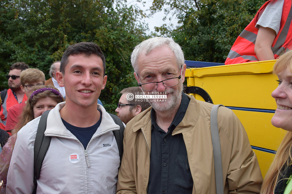 Jeremy Corbyn MP at the annual Burston School Strike rally, Burston, Norfolk 4 September 2016. Burston Strike School was at the centre of the longest running strike in British history from 1914-1939