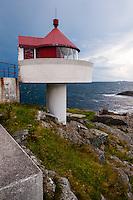 Norway, Rennesøy. Fjøløy lighthouse.