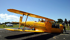 Auckland-Tiger Moth crashes on take off at Ardmore