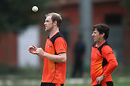 Michael Beer of Perth Scorchers and Brad Hogg of Perth Scorchers during the Perth Scorchers Training Session held at the Sawai Mansingh Stadium in Jaipur on the 28th September 2013<br /> <br /> Photo by Shaun Roy-CLT20-SPORTZPICS <br /> <br /> Use of this image is subject to the terms and conditions as outlined by the CLT20. These terms can be found by following this link:<br /> <br /> http://sportzpics.photoshelter.com/image/I0000NmDchxxGVv4