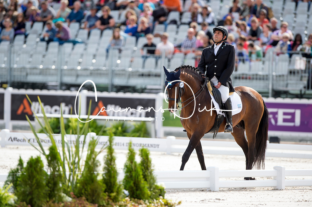Patricio Guglialmelli Lynch, (ARG), Zizifo Interagro - Team Competition Grade III Para Dressage - Alltech FEI World Equestrian Games&trade; 2014 - Normandy, France.<br /> &copy; Hippo Foto Team - Jon Stroud <br /> 25/06/14