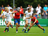 Rugby Union - 2017 Women's Rugby World Cup (WRWC) - Pool B: England vs. Spain<br /> <br /> England's Katy Mclean in action against Spain's Elena Redondo , at The UCD Bowl, Dublin.<br /> <br /> COLORSPORT/KEN SUTTON