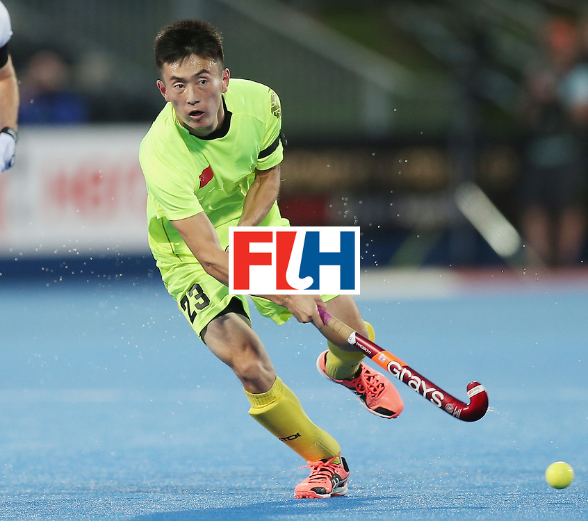 LONDON, ENGLAND - JUNE 15: Zixiang Gou of China during the Hero Hockey World League Semi Final match between England and China at Lee Valley Hockey and Tennis Centre on June 15, 2017 in London, England.  (Photo by Alex Morton/Getty Images)