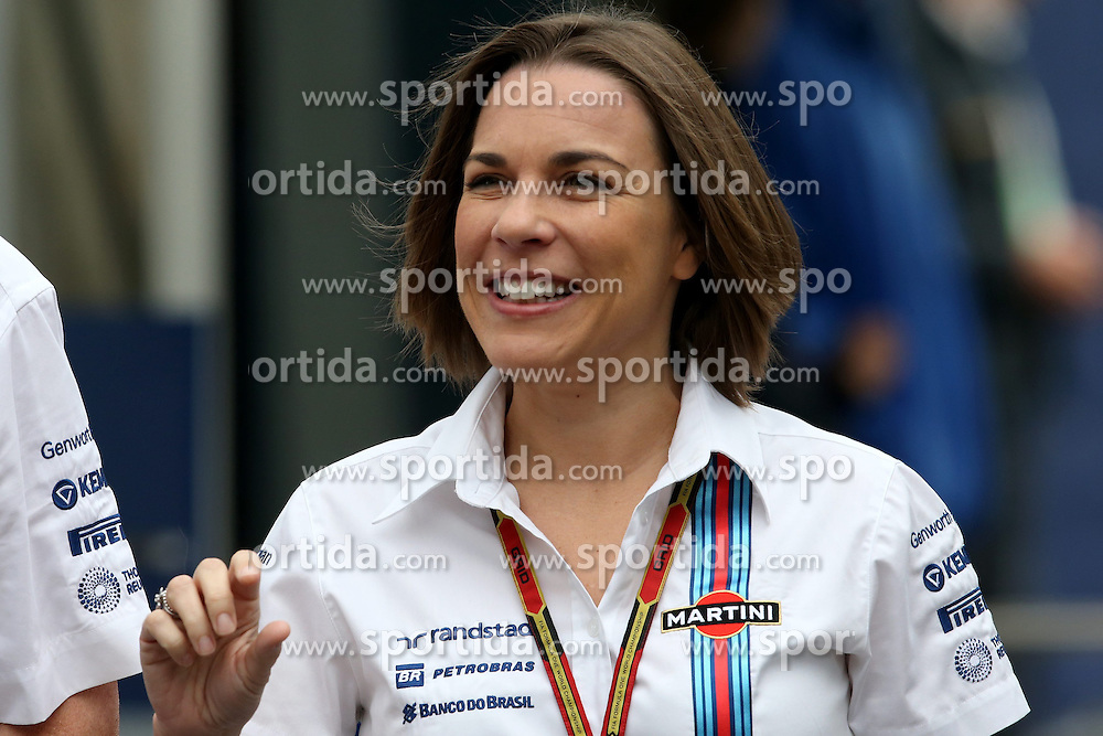 21.06.2014, Red Bull Ring, Spielberg, AUT, FIA, Formel 1, Grosser Preis von &Ouml;sterreich, Qualifying, im Bild Claire Williams (GBR) Williams Deputy Team Principal. // during the qualifying of the Austrian Formula One Grand Prix at the Red Bull Ring in Spielberg, Austria on 2014/06/21. EXPA Pictures &copy; 2014, PhotoCredit: EXPA/ Sutton Images/ Boland<br /> <br /> *****ATTENTION - for AUT, SLO, CRO, SRB, BIH, MAZ only*****