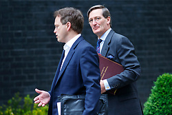 © Licensed to London News Pictures. 03/06/2014. LONDON, UK. Attorney General Dominic Grieve (R) and Conservative Chairman Grant Shapps attending to a cabinet meeting in Downing Street on Tuesday, 3 June 2014. Photo credit: Tolga Akmen/LNP