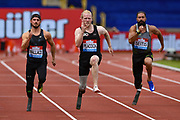 Jonathan Peacock of Great Britain wins the Men's 100m T44 during the Muller Grand Prix Birmingham 2017 at the Alexander Stadium, Birmingham, United Kingdom on 20 August 2017. Photo by Martin Cole.