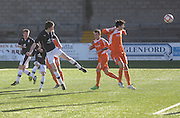 Jack Neave scores Dundee' s second goal - Forfar Athletic v Dundee, SPFL Under 19s League Cup at Station Park<br /> <br /> <br />  - &copy; David Young - www.davidyoungphoto.co.uk - email: davidyoungphoto@gmail.com
