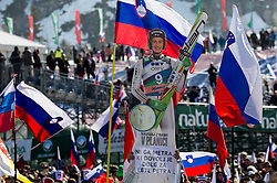 Fans of Peter Prevc (SLO) during Ski Flying Hill Individual Competition at Day 4 of FIS Ski Jumping World Cup Final 2016, on March 20, 2016 in Planica, Slovenia. Photo by Vid Ponikvar / Sportida