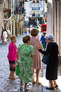 Spanish women after Mass in Laredo, Cantabria, Spain
