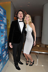 ZACH BRAFF and TAYLOR BAGLEY at an after show party following the opening night of All New People held at the St.Martin's Lane Hotel, London on 28th February 2012.